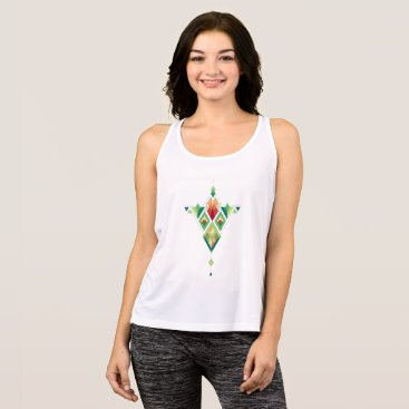 Aztec Themed Vintage ethnic tribal aztec ornament tank top