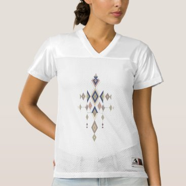 Aztec Themed Vintage ethnic tribal aztec ornament women's football jersey