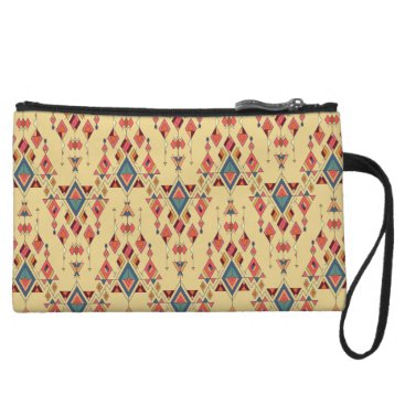 Vintage ethnic tribal aztec ornament wristlet