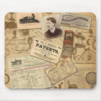 Vintage Euphoria Trains, Bill, Bicycles Mouse Pad