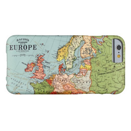 Vintage Europe 20th Century Bacon's Standard Map Barely There iPhone 6 Case