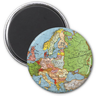 Vintage Europe 20th Century General Map Magnet
