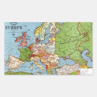 Vintage Europe 20th Century General Map Rectangular Sticker