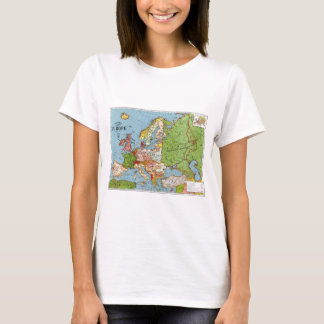 Vintage Europe 20th Century General Map T-Shirt