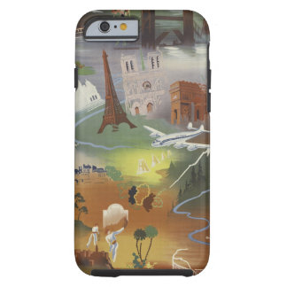Vintage Europe Air Travel Ad iPhone 6 Case