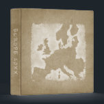 """Vintage Europe Map Vacation Photo Album Year Binder<br><div class=""""desc"""">This album is perfect for storing your photos and keepsakes from your European  vacation. Look for other vacation albums in the rest of this shop.</div>"""