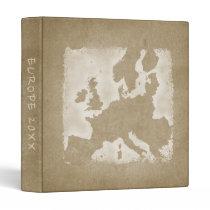 Vintage Europe Map Vacation Photo Album Year Binder