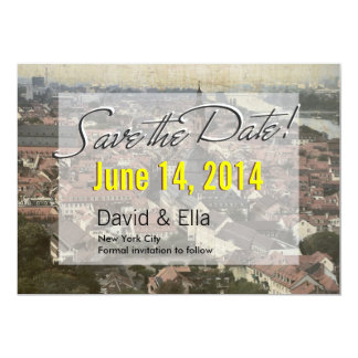 Vintage Europe Old Town Save the Date Announcement
