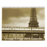 Vintage Europe scenery architecture Calendar 2015