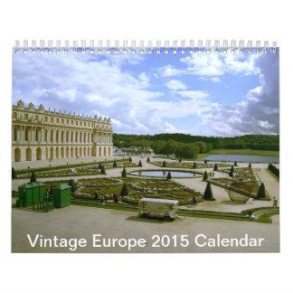 Vintage Europe scenery architecture Calendar 2015