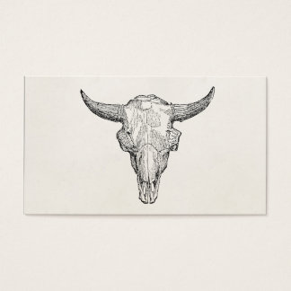 Vintage European Bison Skull Antique Template Business Card