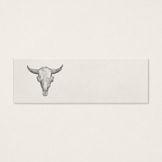 Vintage European Bison Skull Antique Template Mini Business Card