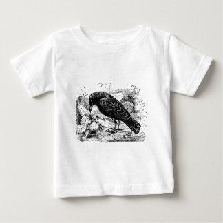 Vintage European Carrion Crow Bird Crows Birds Baby T-Shirt