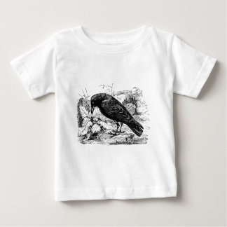 Vintage European Carrion Crow Bird Crows Birds Tshirt