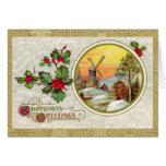 Vintage European Christmas Greetings Card