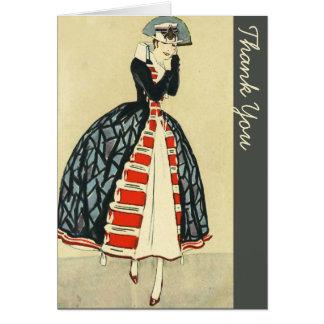 Vintage European Military Styled Fahion Card