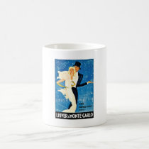 Vintage European Winter in Monte Carlo Travel Coffee Mug