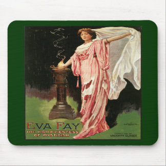 Vintage Eva Fay The High Priestess of Mysticism Mouse Pad