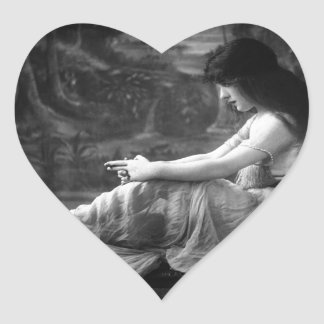 Vintage Evelyn 1913 Nesbit Pegatina En Forma De Corazón