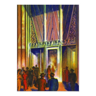 Vintage Evening On The Town Crowd Deco Style Blank Card