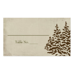Vintage Evergreen Seating Cards Double-Sided Standard Business Cards (Pack Of 100)