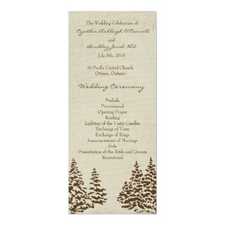 Vintage Evergreen Wedding Program