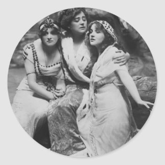 Vintage Everywoman promocional Pegatina Redonda