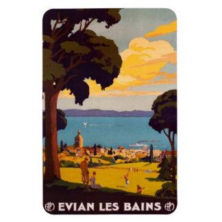 Vintage Évian-les-Bains, Rhône-Alpes, France - Rectangular Photo Magnet