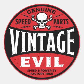 Vintage Evil 002A Classic Round Sticker