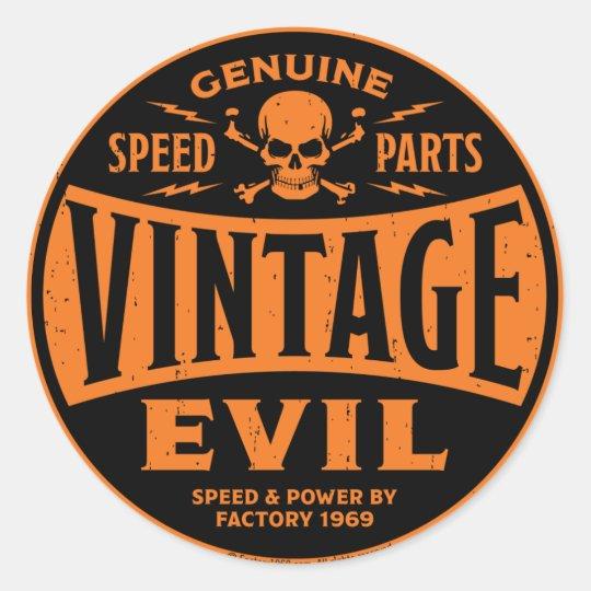 Vintage Evil 002B Classic Round Sticker