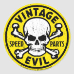 Vintage Evil 007A Classic Round Sticker