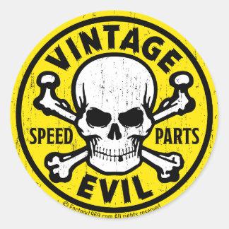 Vintage Evil 007A Classic Round Sticker