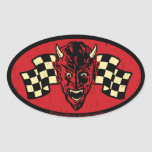 Vintage Evil 009C Oval Sticker