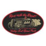 Vintage Evil 013A Oval Sticker