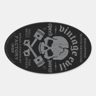 Vintage Evil 014A Oval Sticker