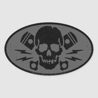 Vintage Evil 015B Oval Sticker