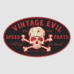 Vintage Evil 016A Oval Sticker