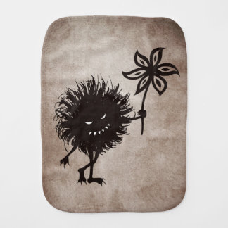 Vintage Evil Bug Gives Flower Burp Cloth