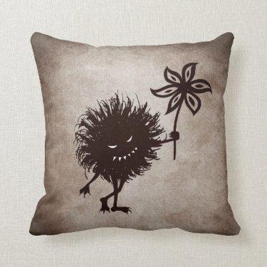 Vintage Evil Bug Gives Flower Pillows