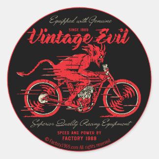 Vintage Evil VE018A Classic Round Sticker