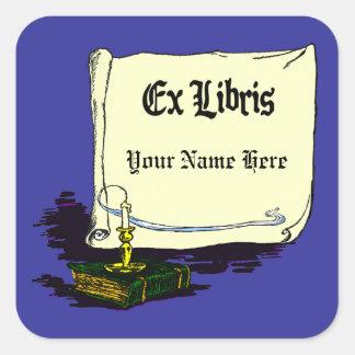 Vintage Ex Libris with Book Sticker Template