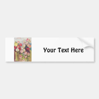 Vintage Excelsior Collection of Assorted Sweetpeas Bumper Sticker