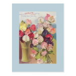 Vintage Excelsior Collection of Assorted Sweetpeas Postcard
