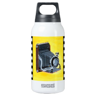 Vintage Expandable Camera Insulated Water Bottle