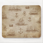 Vintage Expedition, A Collection of Ships Mouse Pad