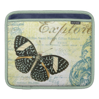 Vintage Explore Butterly...ipad sleeve Sleeve For iPads
