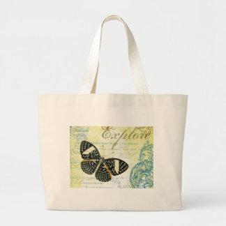 Vintage Explore Butterly...tote bag