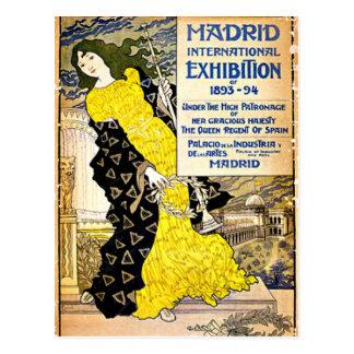 Vintage: Exposición internacional de Madrid, Tarjeta Postal
