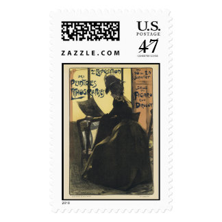 Vintage Exposition des Peiltres Lithographes Postage