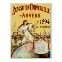 Vintage Exposition Universelle d'Anvers 1894